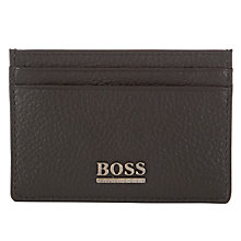 Buy BOSS Myto Leather Card Holder, Brown Online at johnlewis.com