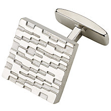 Buy BOSS Pheodi Square Block Pattern Cufflinks, Silver Online at johnlewis.com