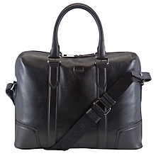 Buy BOSS Masoni Leather Work Bag, Black Online at johnlewis.com