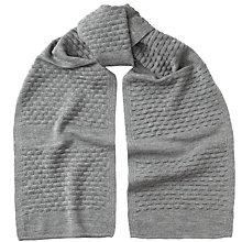 Buy Kin by John Lewis Textured Knit Scarf Online at johnlewis.com