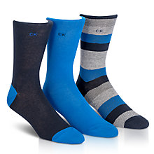 Buy Calvin Klein Gift Socks, Pack of 3, One Size Online at johnlewis.com