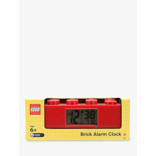 Buy LEGO Brick Alarm Clock, Red Online at johnlewis.com