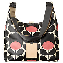 Buy Orla Kiely Matt Laminated Midi Tulip Stem Sling Bag, Black / Pink Online at johnlewis.com