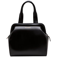 Buy Lulu Guinness Large Paula Polished Leather Shoulder Handbag, Black Online at johnlewis.com