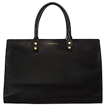 Buy Lulu Guinness Medium Daphne Leather Bag, Black Online at johnlewis.com