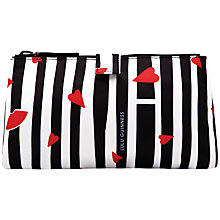 Buy Lulu Guinness Lips And Stripe Cosmetic Bag, Multi Online at johnlewis.com