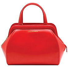 Buy Lulu Guinness Small Paula Polished Leather Shoulder Bag, Red Online at johnlewis.com