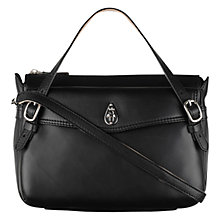 Buy Tula Medium Nappa Lock Leather Across Body Bag, Black Online at johnlewis.com