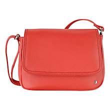 Buy Tula Small Nappa Leather Flapover Across Body Bag, Red Online at johnlewis.com