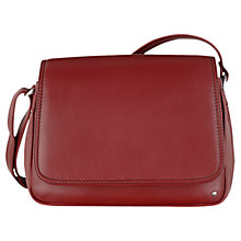 Buy Tula Nappa Originals Medium Leather Across Body Bag, Burgundy Online at johnlewis.com