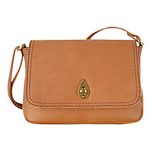 Buy Tula Small Natural Calf Originals Leather Across Body Bag, Tan Online at johnlewis.com