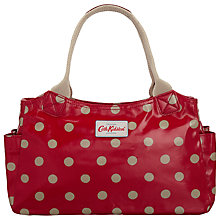 Buy Cath Kidston Day Button Spot Shopper Bag, Cranberry Online at johnlewis.com