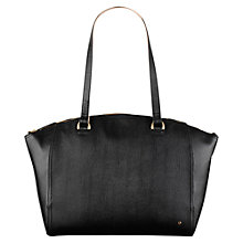 Buy Tula Large Saffiano Leather Tote Bag, Black Online at johnlewis.com