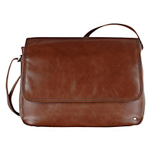 Buy Tula Large Leather Veg Across Body Bag, Brown Online at johnlewis.com