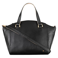 Buy Tula Saffiano Leather Grab Bag, Black Online at johnlewis.com
