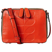 Buy Orla Kiely Exclusive Leather Embossed Mini Across Body Bag Online at johnlewis.com