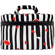 Buy Lulu Guinness Lips And Stripe Vanity Case, Multi Online at johnlewis.com