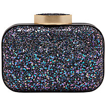 Buy Lulu Guinness Flossie Glitter Box Clutch, Navy Online at johnlewis.com