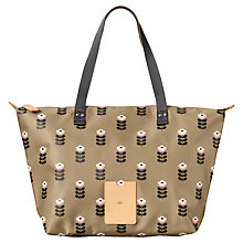 Buy Orla Kiely Matt Laminated Butter Cup Stem Shopper Bag, Sand Online at johnlewis.com