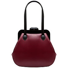 Buy Lulu Guinness Mid Pollyanna Patent Leather Shoulder Handbag, Burgundy Online at johnlewis.com