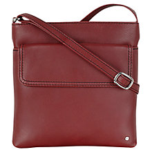 Buy Tula Nappa Originals Medium Leather Square Across Body Bag, Burgundy Online at johnlewis.com