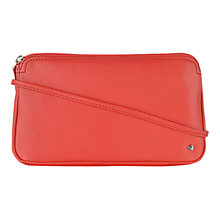 Buy Tula Small Nappa Leather Across Body Bag, Red Online at johnlewis.com