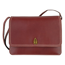 Buy Tula Medium Saddle Leather Across Body Bag, Burgundy Online at johnlewis.com