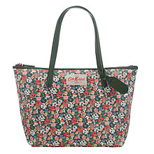 Buy Cath Kidston Large Mews Tote Bag, Midnight Blue/Forest Green Online at johnlewis.com