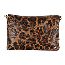 Buy Tula Small Across Body Textured Leather Bag, Leopard Online at johnlewis.com