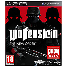 Buy Wolfenstein: The New Order, PS3 Online at johnlewis.com