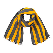 Buy NLC Independent School Scarf, Grey/Gold Online at johnlewis.com
