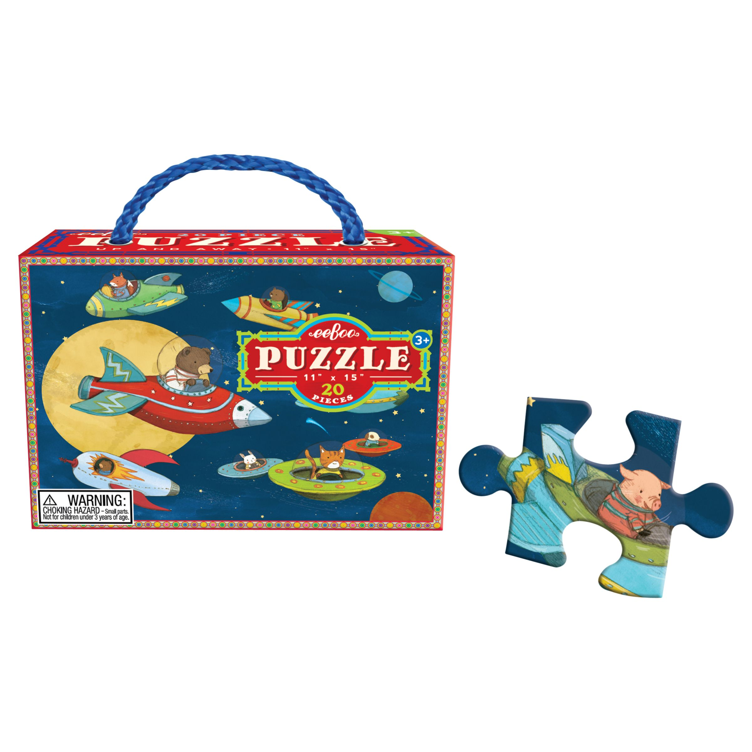 Eeboo Eeboo Up and Away Jigsaw Puzzle