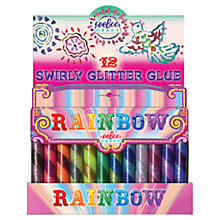 Buy Eeboo Rainbow Glitter Glue, Pack of 12 Online at johnlewis.com