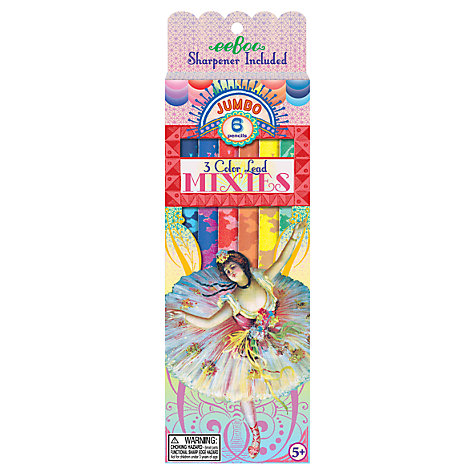 Buy Eeboo French Dancer Jumbo Mixies Pencils, Pack of 6 Online at johnlewis.com