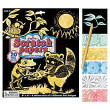Buy Eeboo Scratch Papers, Pack of 20 Online at johnlewis.com