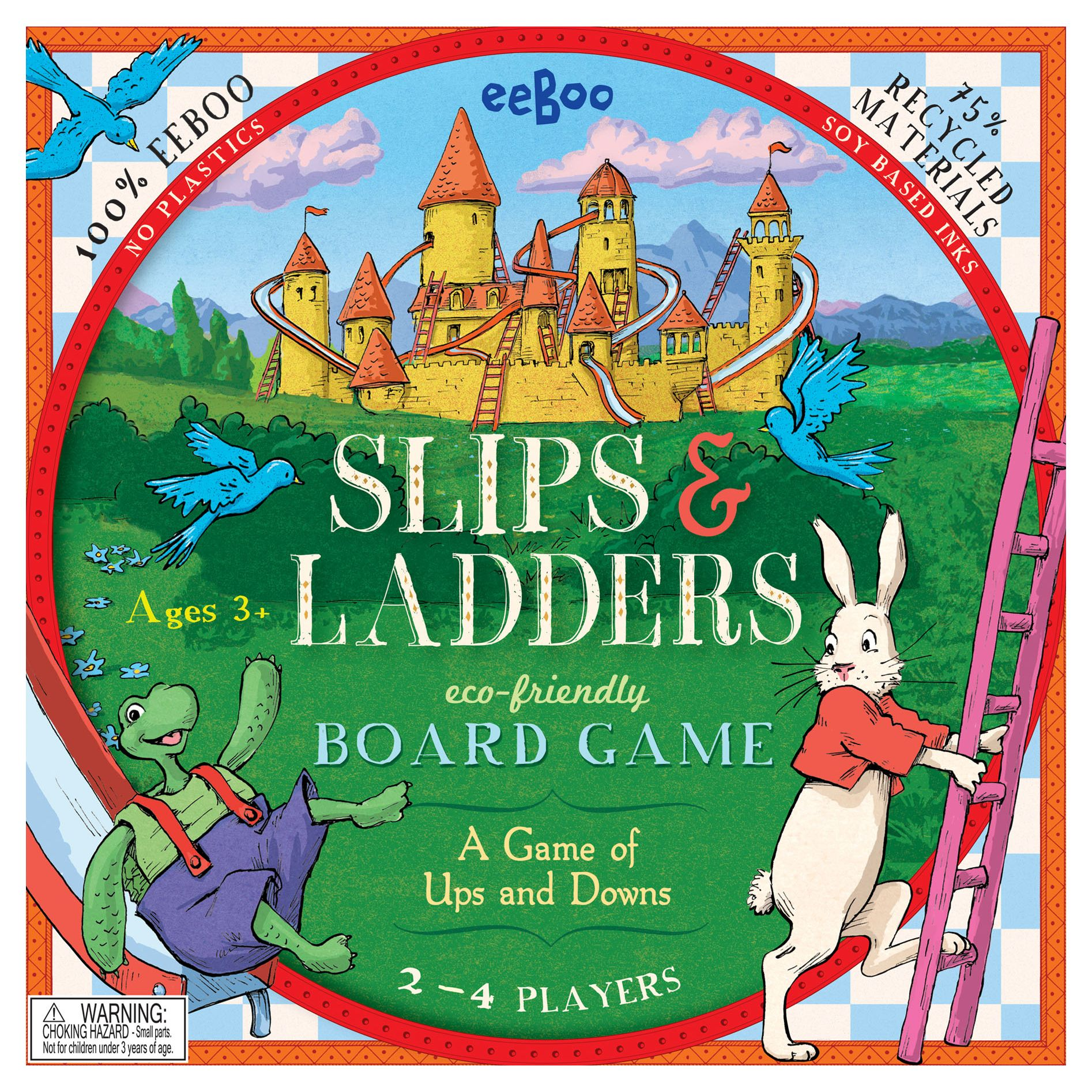 Eeboo Eeboo Slips & Ladders Board Game