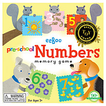 Buy Eeboo Pre-School Numbers Memory Game Online at johnlewis.com