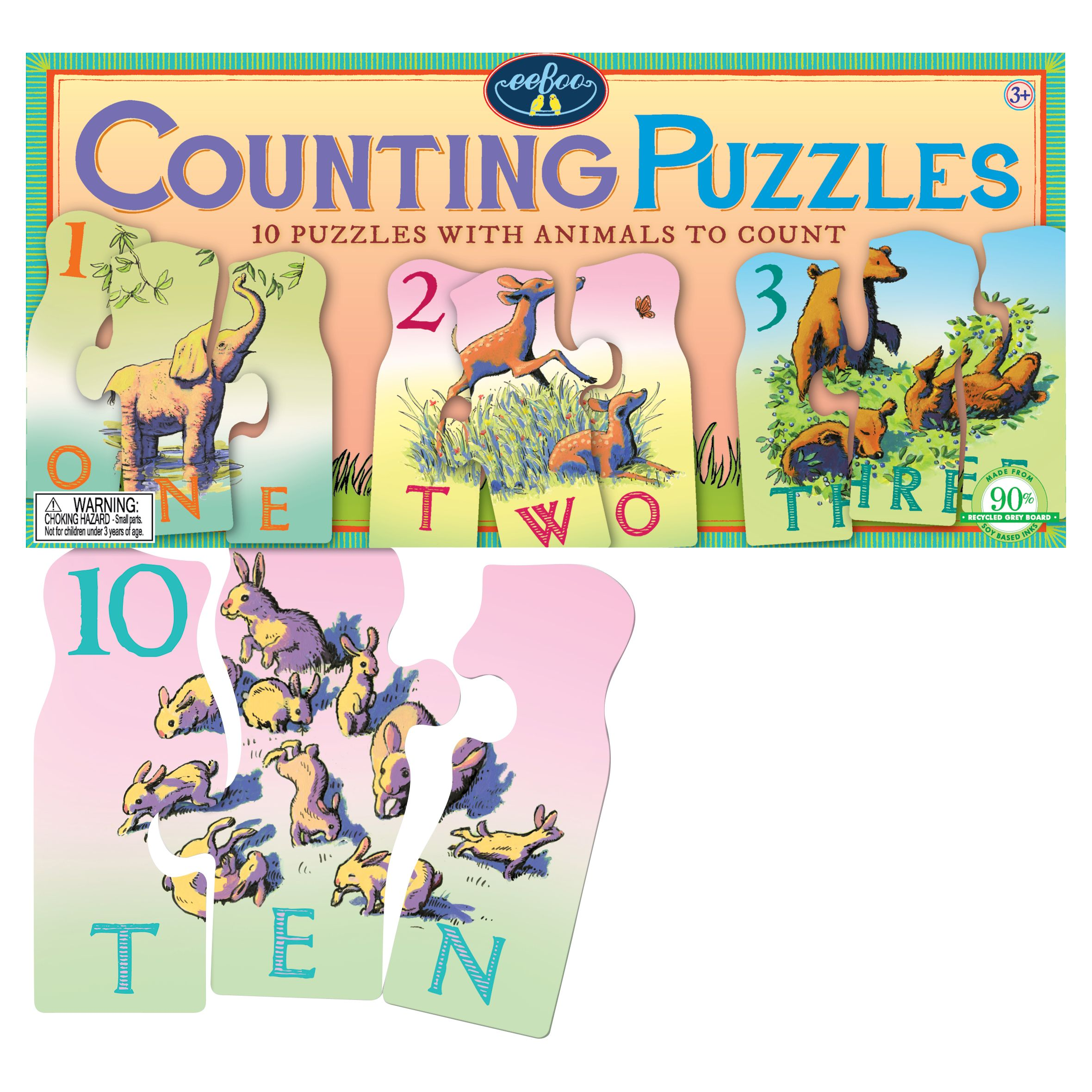 Eeboo Eeboo Animal Counting Puzzles