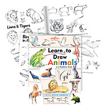 Buy Eeboo Learn to Draw Animals Artbook Online at johnlewis.com