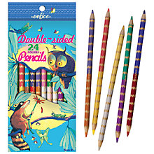 Buy Eeboo Raccoon and Owl Double-Sided Pencils, Pack of 12 Online at johnlewis.com