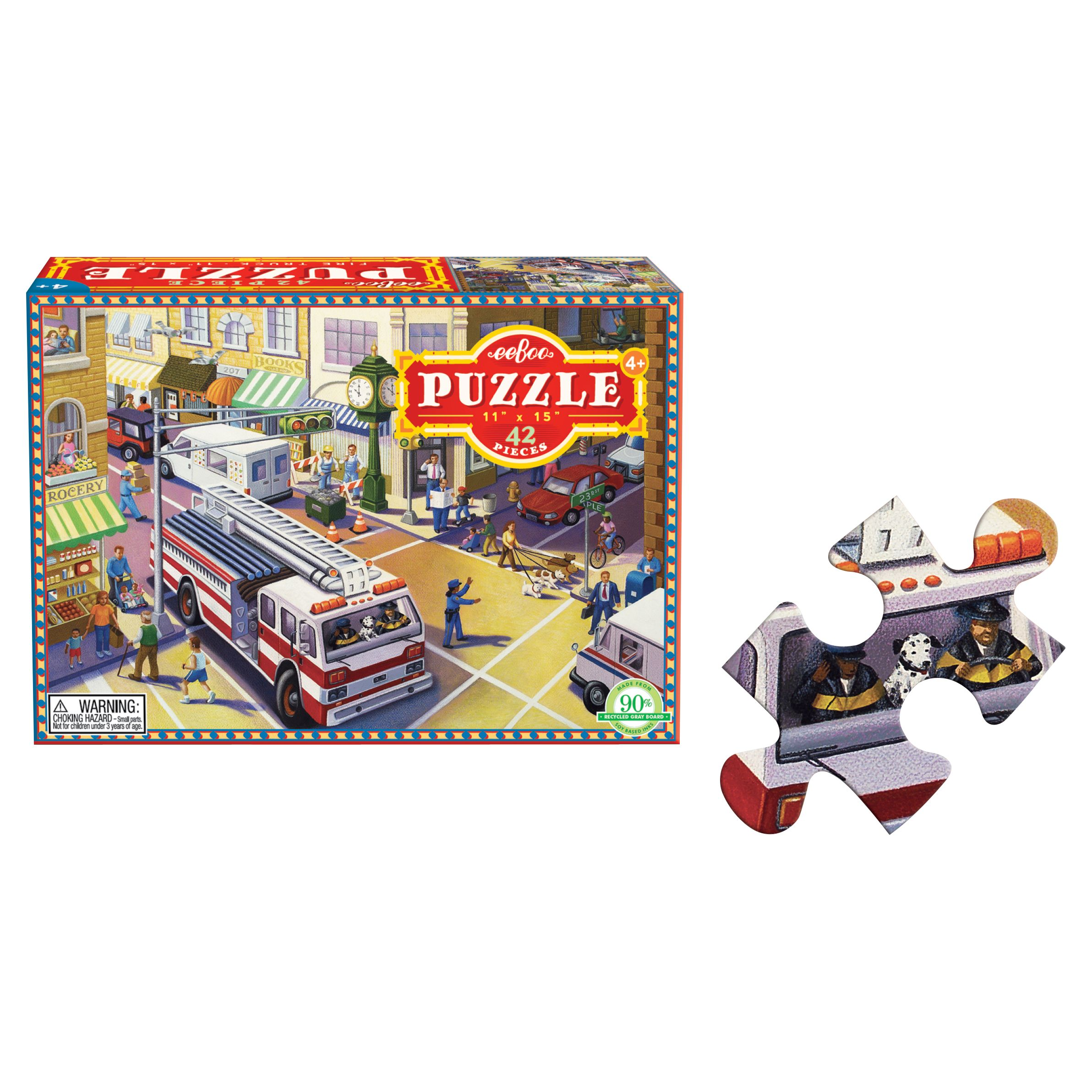 Eeboo Eeboo Fire Engine Jigsaw Puzzle