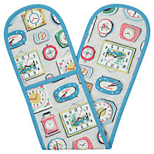 Buy Cath Kidston Clocks Double Oven Glove Online at johnlewis.com