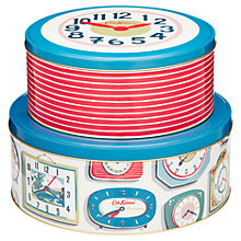 Buy Cath Kidston Clocks Cake Tins, Set of 2 Online at johnlewis.com