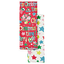 Buy Cath Kidston Merry Christmas Tea Towels, Set of 2 Online at johnlewis.com