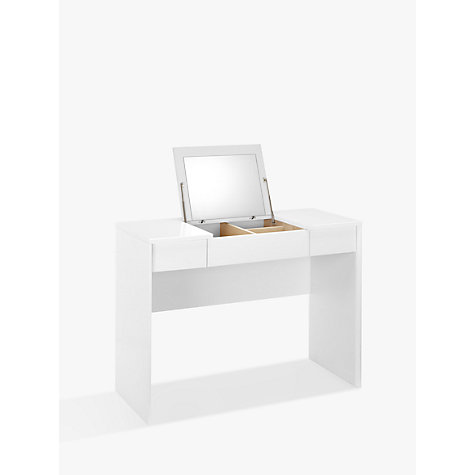 Small contemporary dressing table modern dressing tables - Buy John Lewis Napoli Gloss Dressing Table White John Lewis