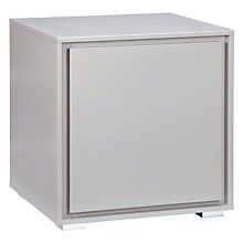 Buy John Lewis Napoli Matt Bedside Cabinet, French Grey Online at johnlewis.com