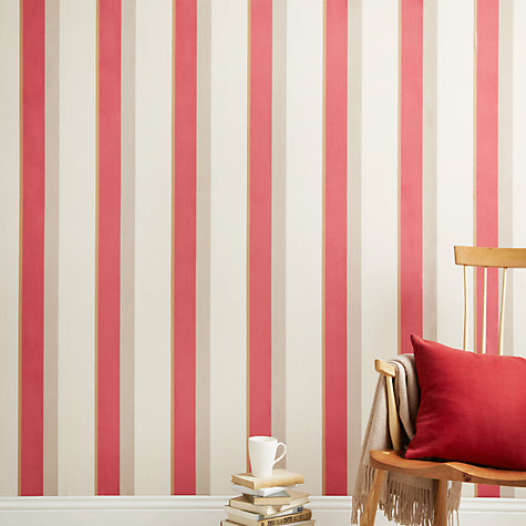 Buy John Lewis Clarence Stripe Wallpaper, Natural Online at johnlewis.com