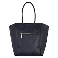 Buy Hobbs Bishopsgate Leather Tote Bag, Navy Online at johnlewis.com