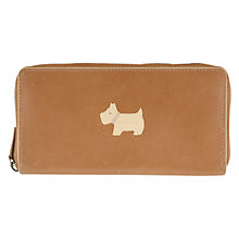 Buy Radley Heritage Dog Large Zip Leather Purse Online at johnlewis.com