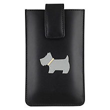 Buy Radley Heritage Dog Leather iPhone Case, Black Online at johnlewis.com